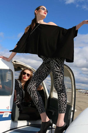 Diane Kroe wanderlust-wrap Travel Cardigan -black-airplane-lifestyle