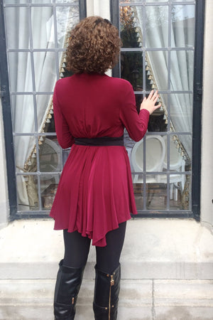 Diane Kroe Layer Jacket back view Getaway With Less Look Book