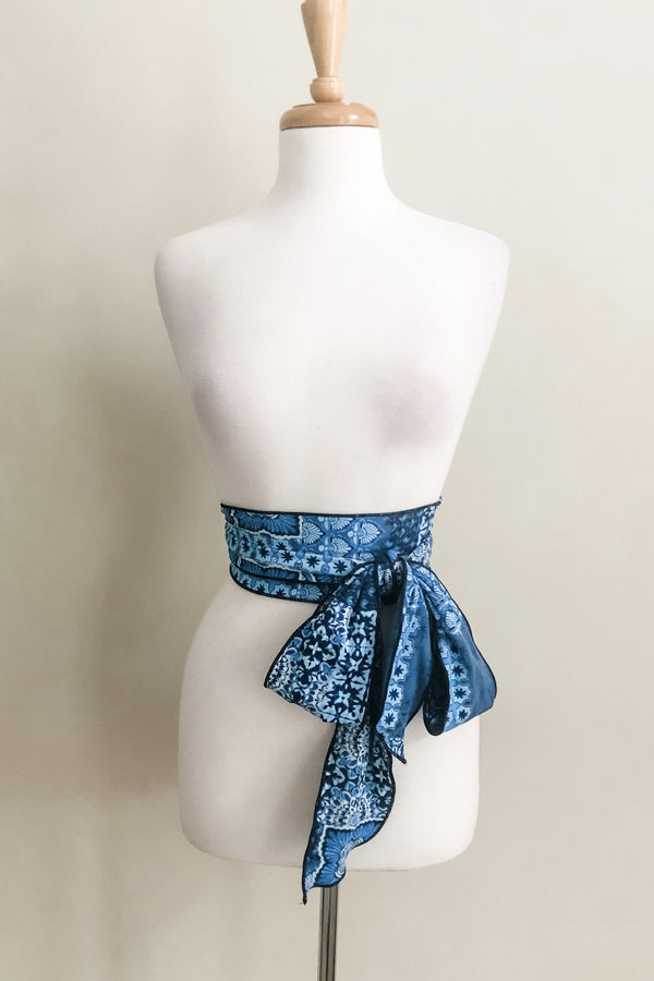 Scalloped Sash Belt | Moroccan Print
