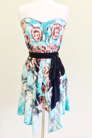 Convertible Travel Scarf Endless as a dress with sash
