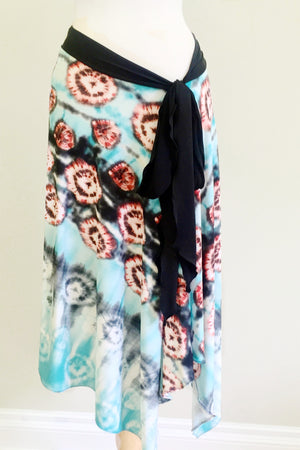 Convertible Travel Scarf Endless as a skirt with sash