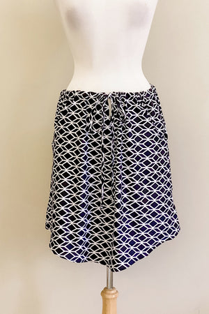 Harlequin Print Evermore Top worn skirt style
