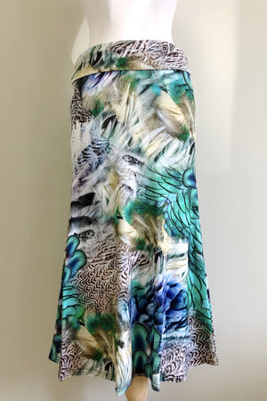 Diane Kroe Snow Bird Print Wear-Ever Dress worn skirt style