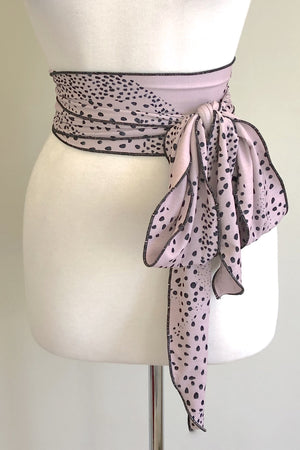 Scalloped Sash Belt | Flock Print
