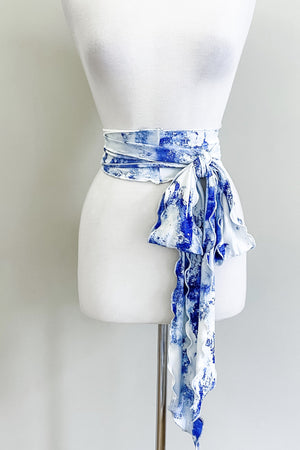 Scalloped Sash Belt | Blue Marble