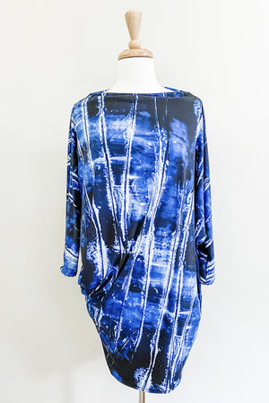 Origami Travel Dress | Indigo Dye