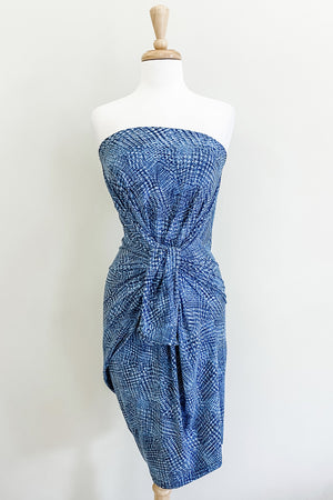 Origami Travel Dress | Geometric Denim