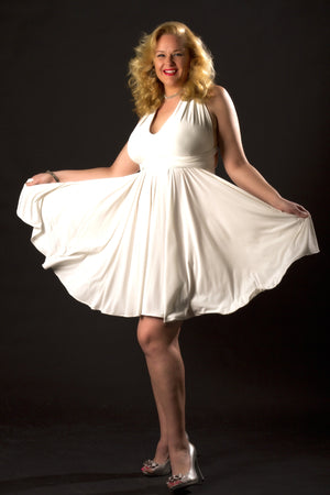 Diane Kroe Convertible Dress in ivory