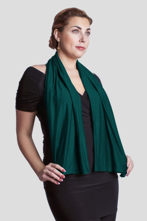 New Diane Kroe Carry-on-Cozy Travel Scarf in Teal
