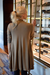 Diane Kroe Layer Jacket worn cardigan style back view