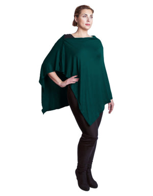 Diane Kroe Carry On Cozy Travel Scarf as a poncho