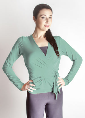 Diane Kroe Wrap top - Travel Cardigan ocean wave