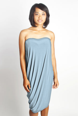 Diane Kroe Origami Top - Travel Dress in New Spring Colour Serenity Blue