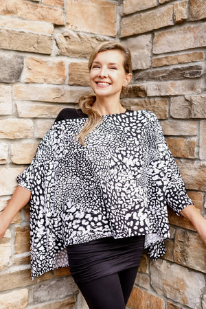 Wanderlust Wrap | Black + White Prints