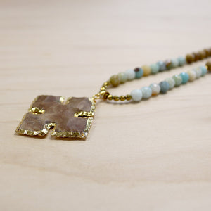 The Erin - Jasper Cross Necklace