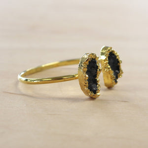 The Jocelyn - Gold Plated Druzy Bangle