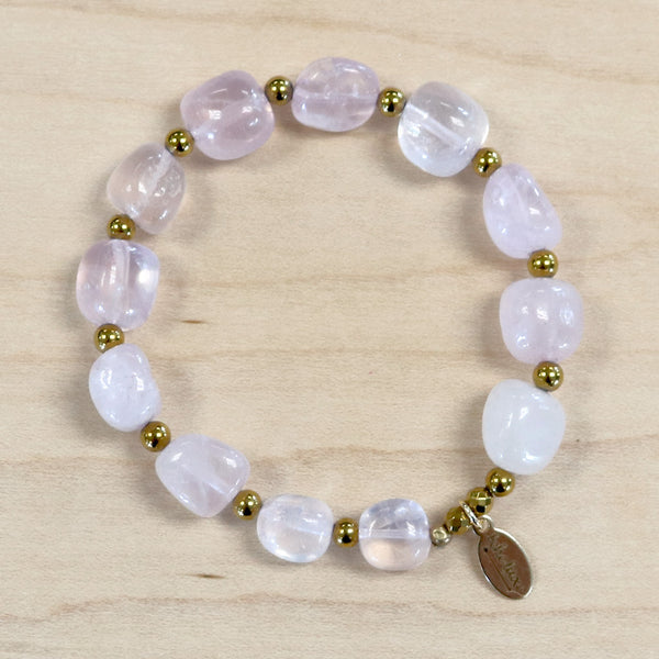 The Amelia - Rose Quartz Bracelet