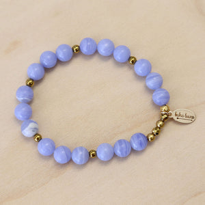 The Vivian - Blue Agate Bracelet