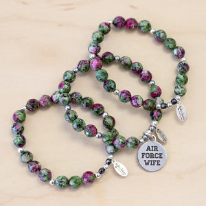 The Riley - Ruby Zoisite Bracelet