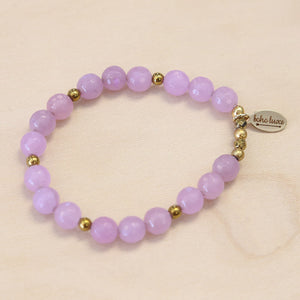 The Jessica - Purple Jade Bracelet