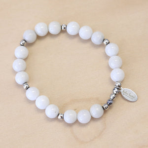The Snow -  White Jade Bracelet