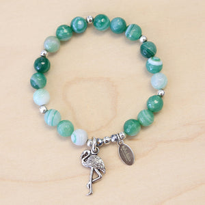 The Ivy - Green Agate Bracelet