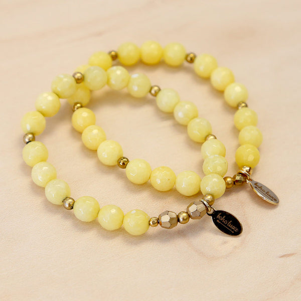 The Amber - Yellow Jade Bracelet