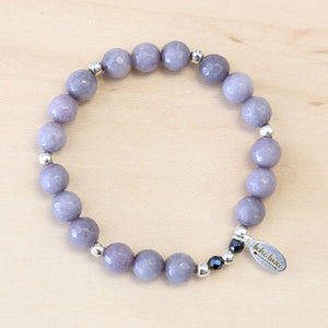The Celia - Grey Jade Bracelet