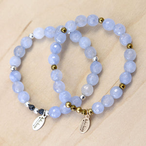The Hope - Periwinkle Jade Bracelet