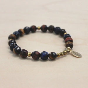 The Laurie - Mixed Tigers Eye Bracelet