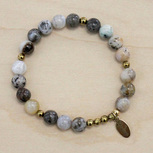 The Willa -  Bamboo Agate Bracelet