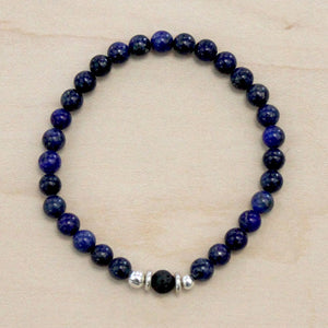 The Luke - Semi-precious Blue Tigers Eye Bracelet