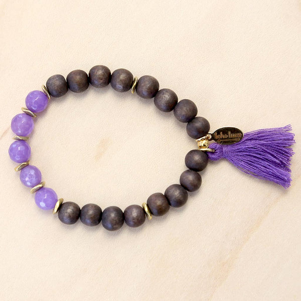 The Marisa - Semi-precious Stone Bracelet with Tassel