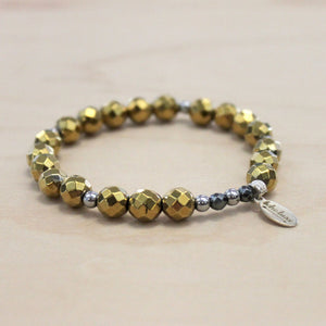 The Ali - Semi-precious Gold Hematite Bracelet