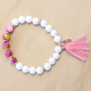 The Carmen - Semi-precious Stone Bracelet with Tassel