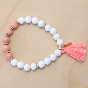 The Linda - Semi-precious Stone Bracelet with Tassel