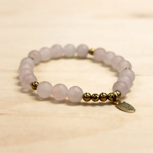 The Ashley - Frosted Quartz Bracelet
