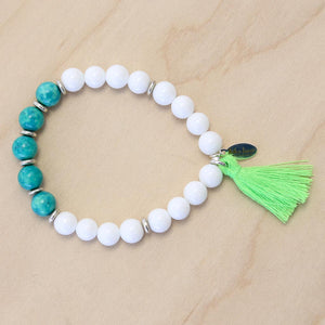 The Theresa - Semi-precious Stone Bracelet with Tassel