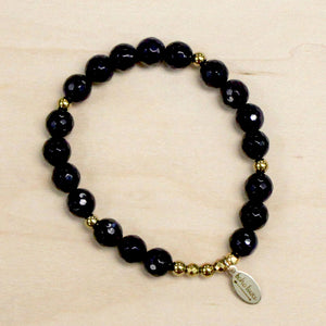 The Viola - Dark Purple Jade Bracelet