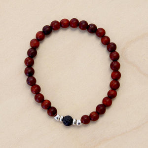 The Parker - Semi-precious Red Bracelet