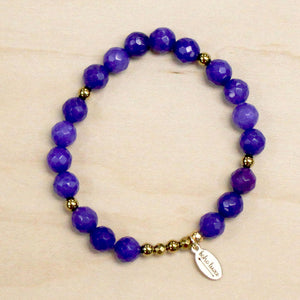 The Evelyn - Purple Jade Bracelet
