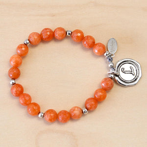 The Savannah - Orange Jade Bracelet