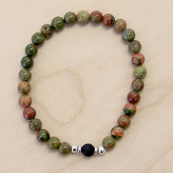 The Adam - Semi-precious Unakite Bracelet