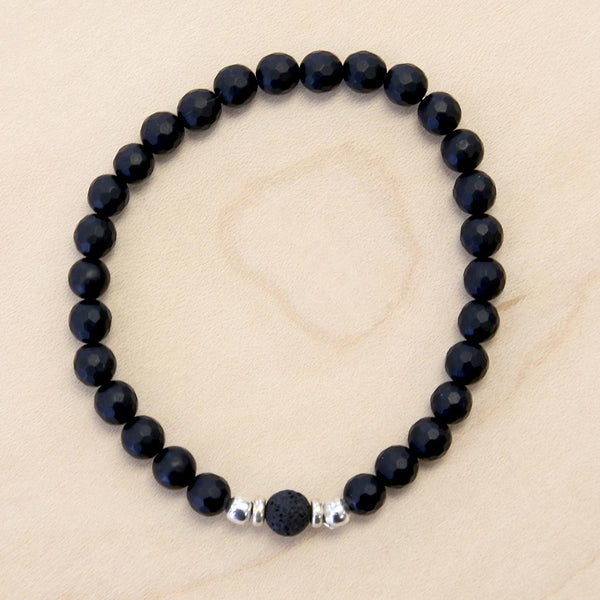 The Arthur - Semi-precious Black Onyx Bracelet