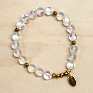The Ophelia -  Frosted White Opal Bracelet
