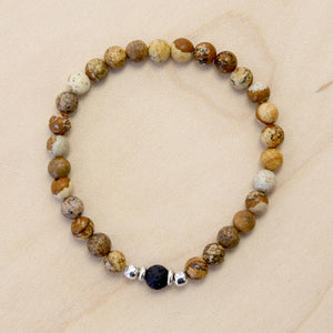 The Andrew - Semi-precious Picture Jasper Bracelet