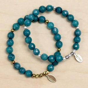 The Abby - Teal Jade Bracelet