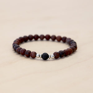 The Matthew - Semi-precious Red Picture Jasper Bracelet