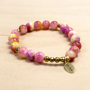 The Juliana - Pink Mashan Jade Bracelet