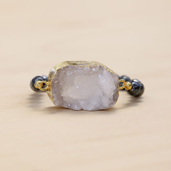 The Christine - Semi-precious and Gold Plated Druzy Bracelet